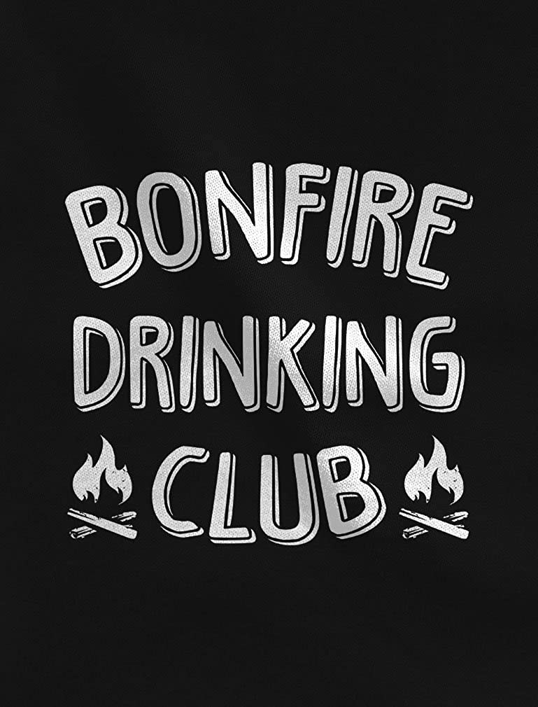 Tstars Bonfire Drinking Club Camping Gift Funny Camping Hoodie