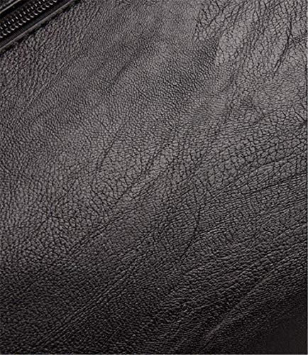 Tracolla Donna Borsa Spalla Nera Blue Europea Da Moda Borse Monocolore Puro Elegante A Colore 6TBxqgw5n