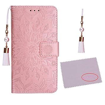 dab1b240c9 iPhone8 Plus ケース iPhone8 Plus カバー アイフォン8 プラス ケース 手帳型ケース かわいい押し花柄
