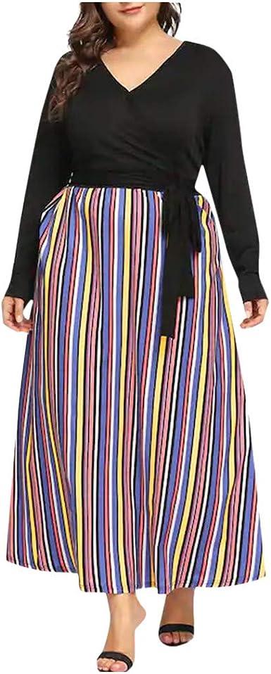 Falda de Rayas Verticales de Color Magnífico para Mujer Vestido de ...