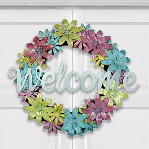 birthday wreath Door wreath floral wreath,Easter decor Spring Time Wreath gift wreath Entryway wreath