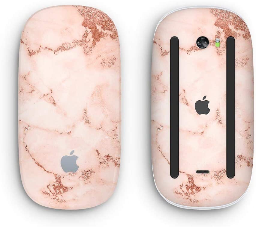 with Multi-Touch Surface Rose Pink Marble /& Digital Gold Frosted Foil V6 Design Skinz Premium Vinyl Decal for The Apple Magic Mouse 2 Wireless, Rechargable