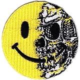 Hook Fastener Smiley Skull Airsoft Tactical Morale Patch Parche Bordado Gancho Hecho Por Titan One Europe