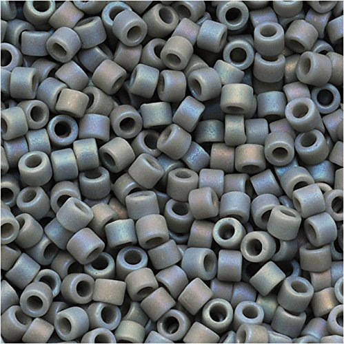 Beads Seed Matte Ab - Miyuki Delica Seed Beads 11/0 Opaque Lt Grey Matte AB DB882 7.2 Grams