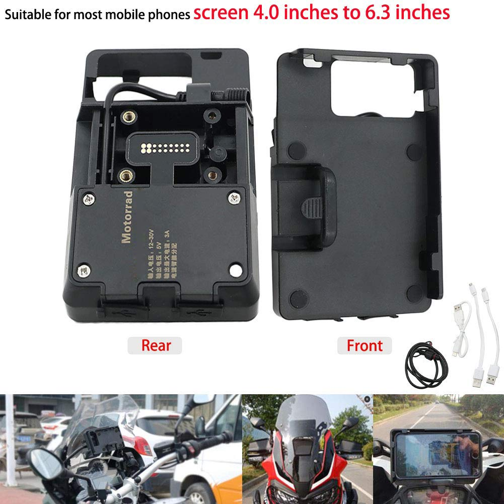 Motoparty R1200GS Mobile Phone GPS Navigation Bracket Accessories for BMW R1200 GS LC ADV 1200 1200GS USB Charger Holder Kit by motoparty