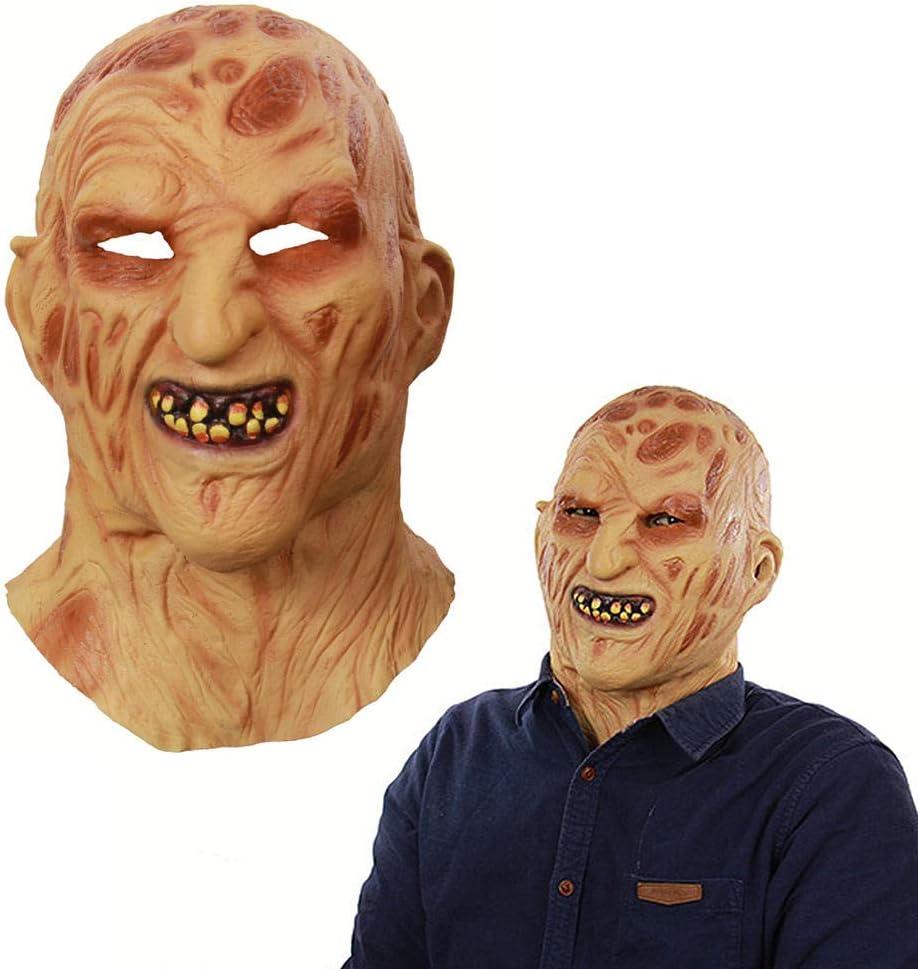 Desconocido Máscara de látex para Disfraz de Halloween, de Monstruo Quemado: Amazon.es: Jardín