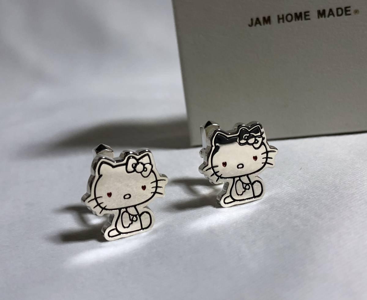 JAMHOMEMADE ジャムホームメイド×サンリオ コラボ ハローキティモチーフカフス シルバー キャラクターカフリ B077WN156R