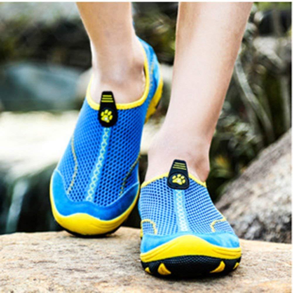 Herren Sommer Sandalen Outdoor Wanderschuhe Angeln Schuhe Amphibien Wanderschuhe Wanderschuhe Wanderschuhe Wasser Schuhe Soft Breathable Schnell Trocknend Anti-Rutsch-Schuhe (Farbe   Königsblau, Größe   43EU) 0ebaf2