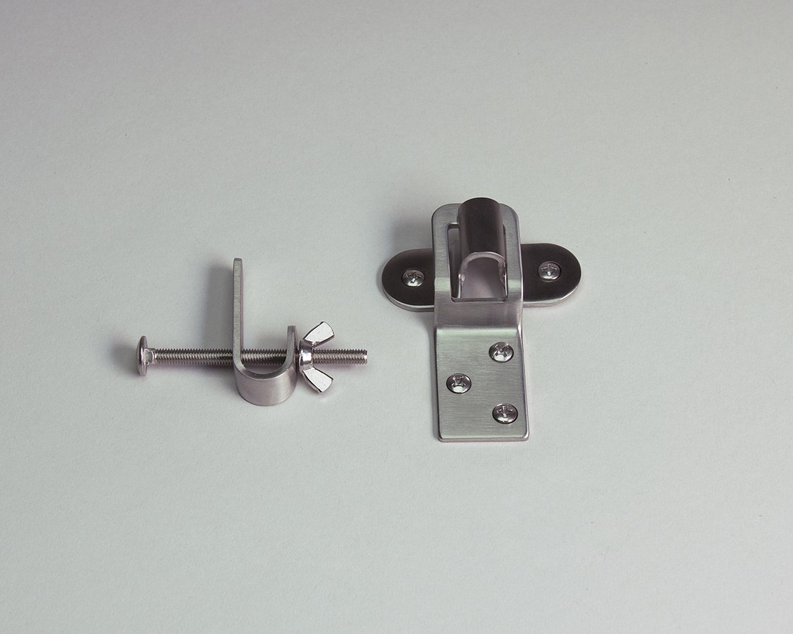Stainless Steel Storm Window Hanger Set With Retaining Clips