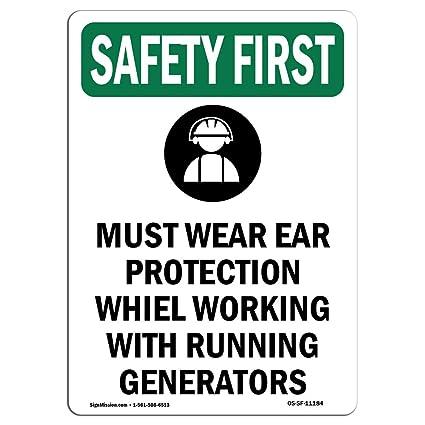 Señal de seguridad de Osha - debe llevar la protección de ...