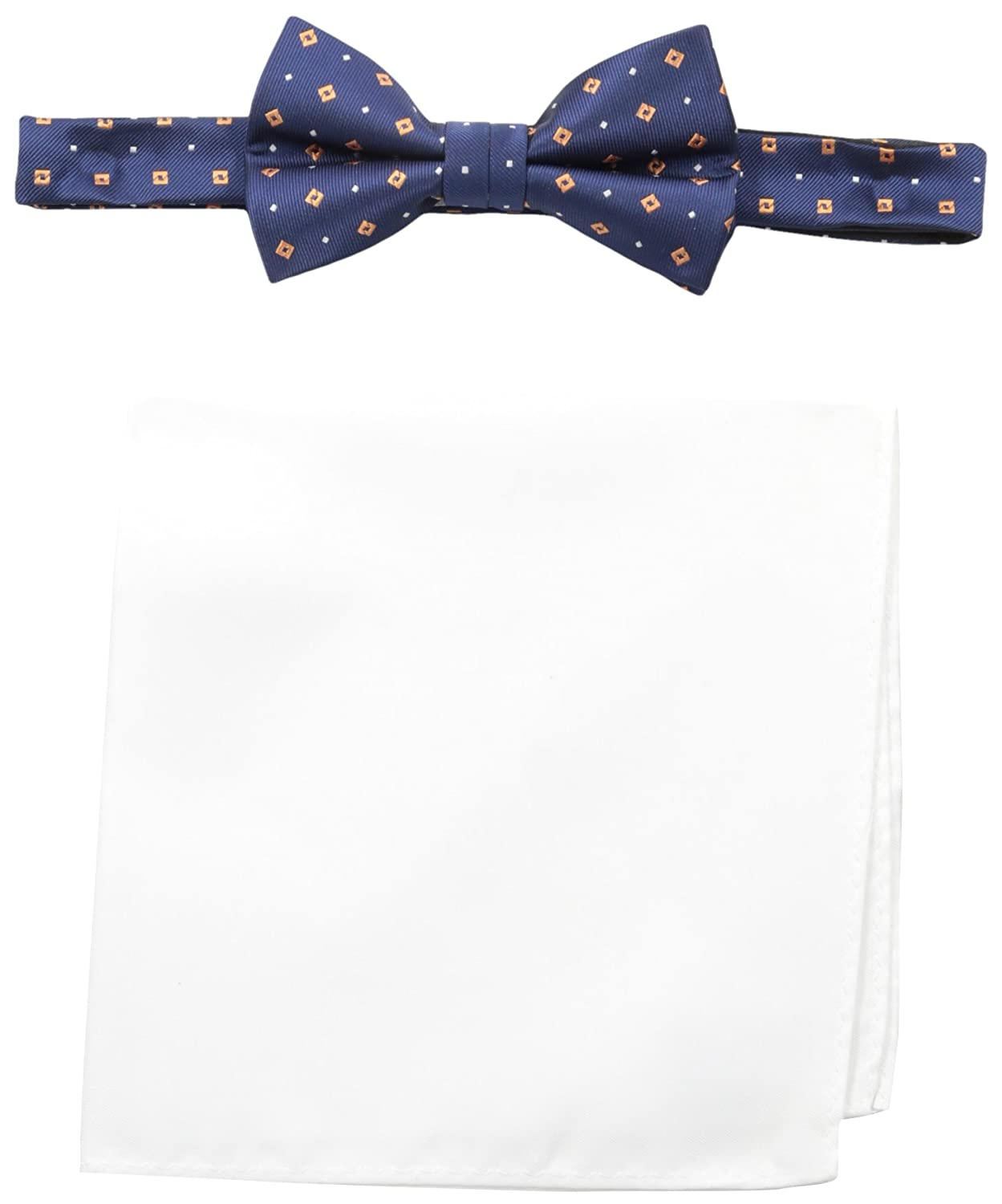 Nick Graham Mens Dot Bow Tie with Pocket Square