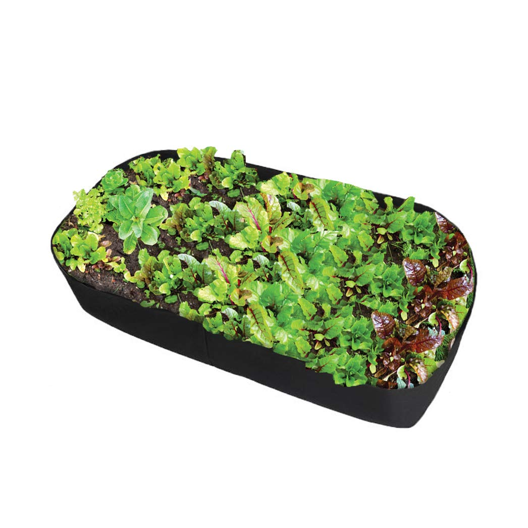 Fabric Raised Garden Bed, 400gsm Thicker Planting Bed Rectangle Garden Grow Bags Planter for Plants Flowers and Vegetables (3ft x 6ft)