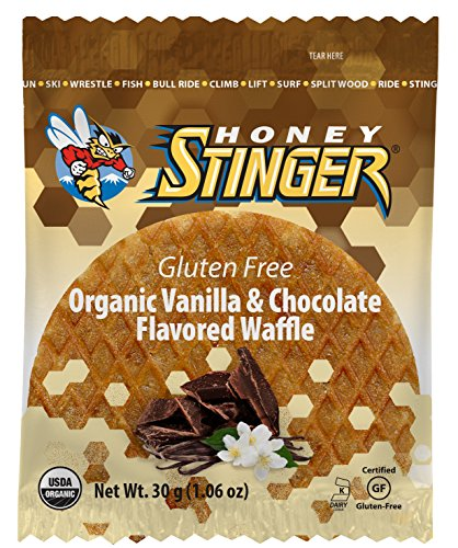 Honey Stinger Organic Gluten Free Waffle, Vanilla/Chocolate, 1.06 Ounce (Pack of 16)