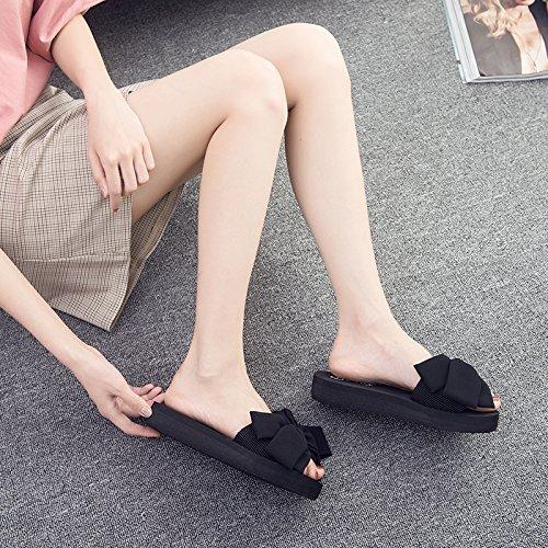 Nœud FLYRCX antidérapante E pour femme Chaussons d'extérieur d'été plage de Sweet Leisure Chaussures antique rqAnxBSrt