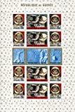 Republic of Guinea Stamps: 15 Stamp Minisheet, 1965, American and Russian Achievements in Space, MNH, Scott 382-387a