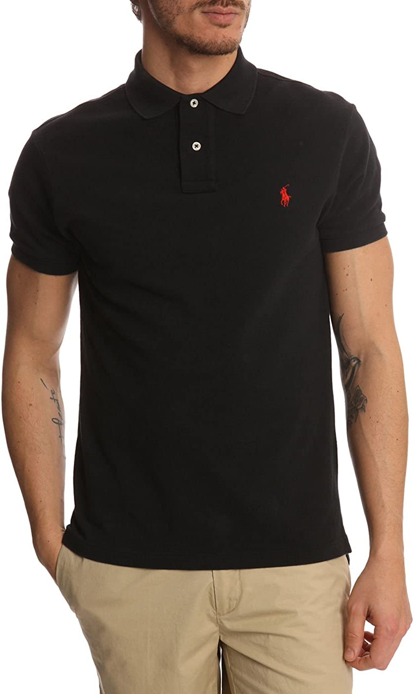 Polo para hombre de Polo Ralph Lauren Negro negro Large: Amazon.es ...