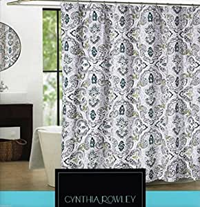 Amazon Com Cynthia Rowley Shower Curtain Mica Floral