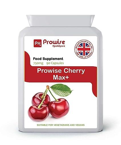 Cereza - Prowise Cherry Max 750 mg 90 cápsulas - Cerezas secas congeladas de alta resistencia