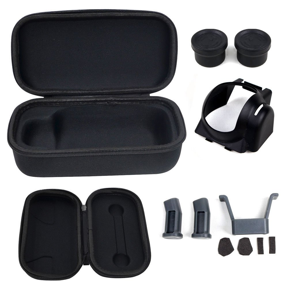Mavic Pro Case, TopTops Hardshell Storage Bag for DJI Mavic Pro Drone and Remote Controller, with Landing Gear, Lens Hood and Silicone Thumb Stick Rocker Protector Cover