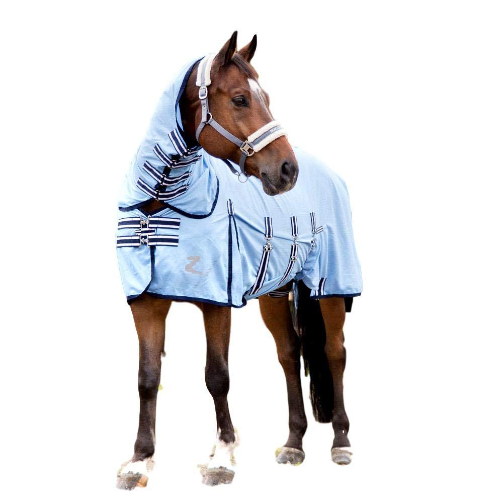 Horze Freja Full Neck Combo Comfort Fly Sheet with UV Protection Light Blue 81''