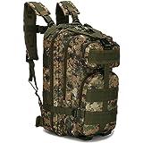 ECHI 3P Sac à dos tactique, militaire imperméable à l'eau Sacs à dos de randonnée pour randonnée en plein air Camping Trekking Chasse (Armée verte)