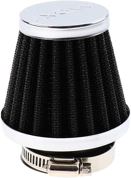 Filtro de Aire Aspirador Negro Hierro Motocicleta - 46mm: Amazon.es: Coche y moto