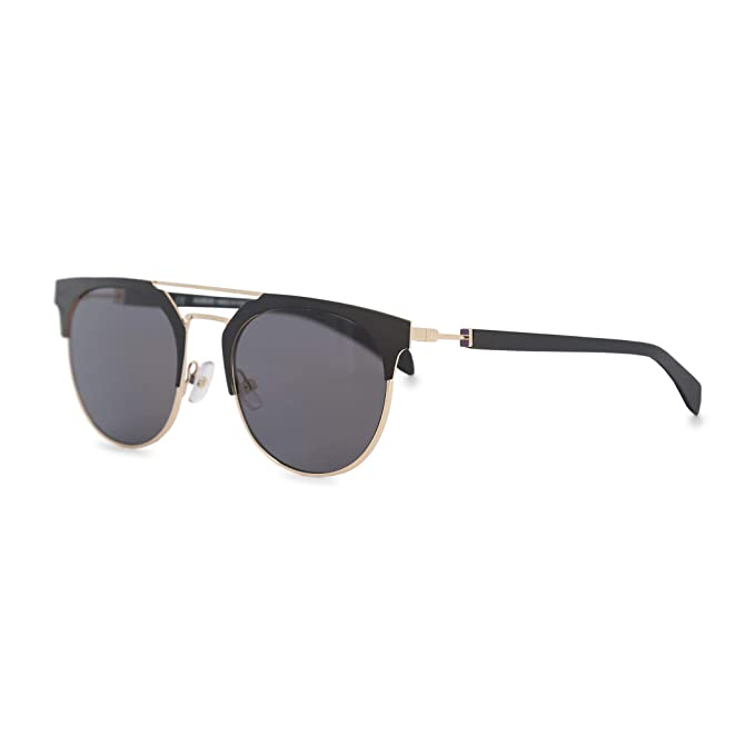 Amazon.com: Balmain BL 2109 negro mate plata Flash Espejo ...