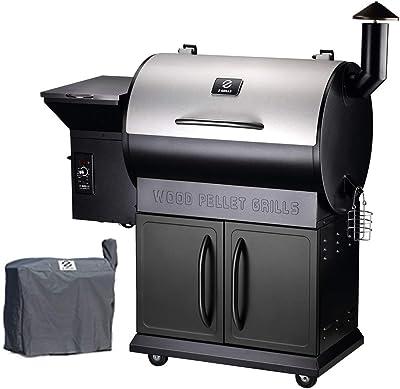 Z GRILLS Wood Pellet Grills 8-in-1 Smoker Grill 700 SQIN Cooking Area,20LB Hopper (ZPG-700E)