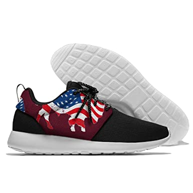 Buffalo USA Flag Colortone Men Lightweight Leisure Shoes Running Mesh Sneakers