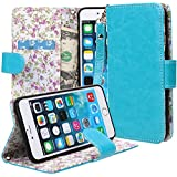 iPhone 6s plus/ 6 Plus case,iPhone 6s plus/ 6 Plus Flip Case, E LV Apple iPhone 6s plus/ 6 Plus Case Cover - PU Leather Flip Folio Wallet Case Cover for Apple iPhone 6s plus/ 6 Plus (5.5 inch) - TURQUOISE