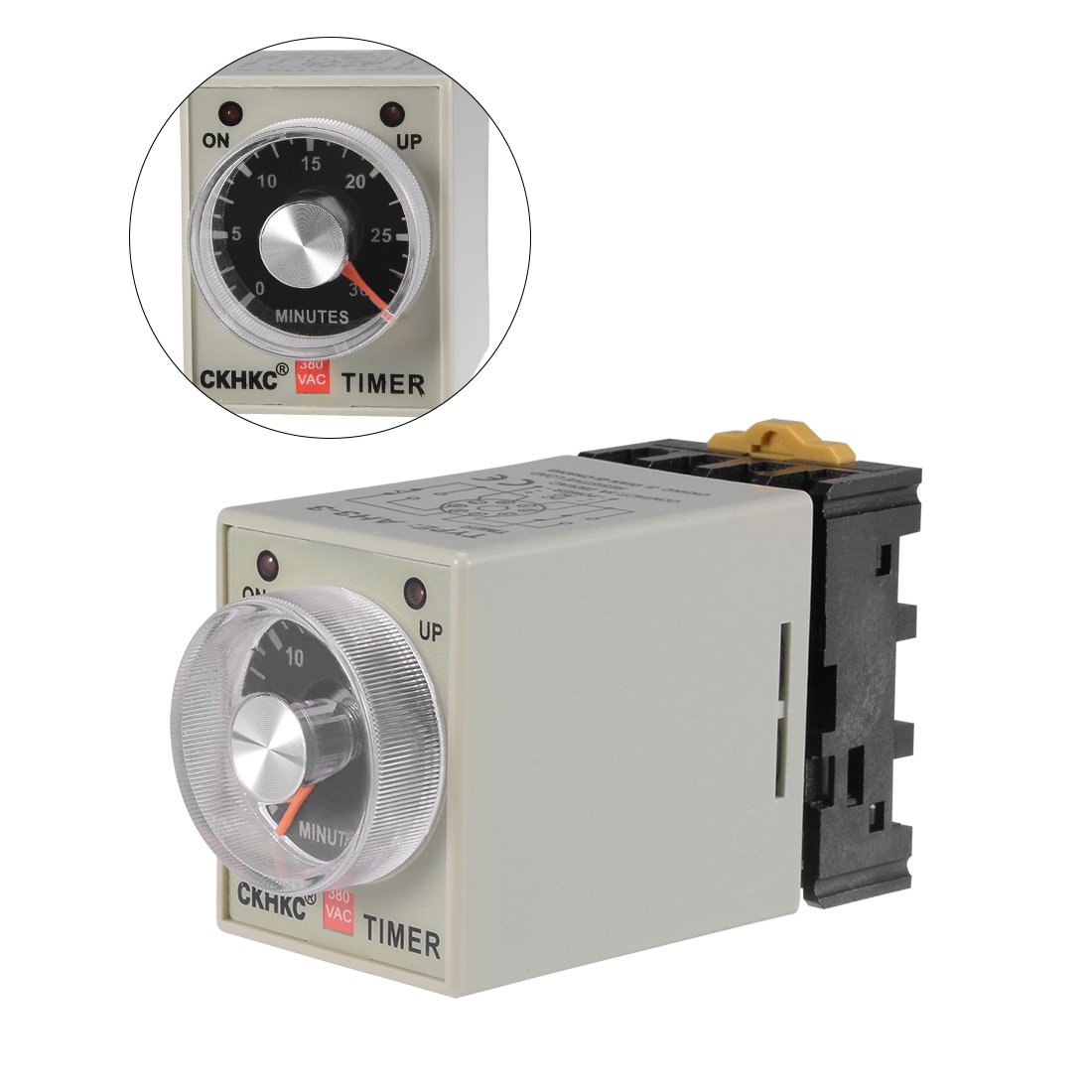 uxcell DC24V Voltage 10S 8 Terminals Range Adjustable Delay Timer Time Relay AH3-3