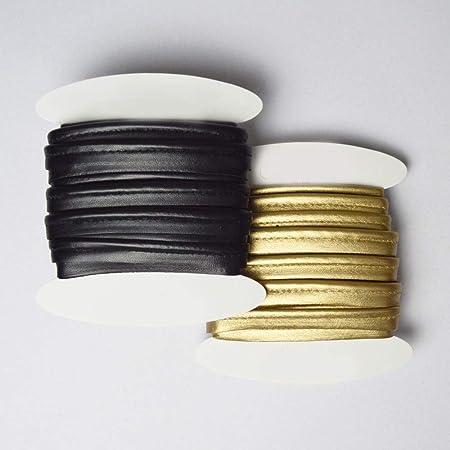 1 dor/é et 1 Noir de Belle qualit/é: 5 m/ètres chacun designers-factory Passepoil Couture: Lot de 2 Passepoil Simili Cuir Passepoil Couture Simili Cuir