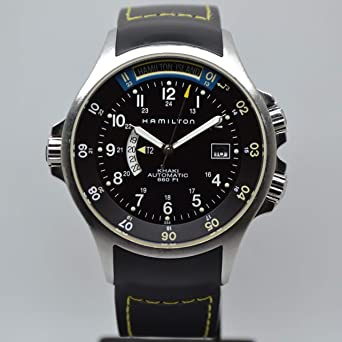 Hamilton Khaki Navy Gmt Men S Automatic Watch H77645333