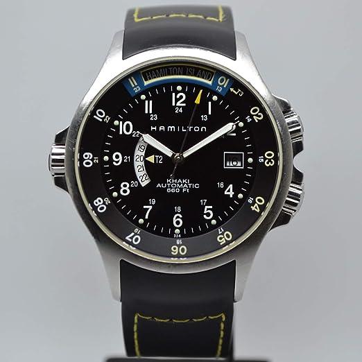 Hamilton Khaki Navy GMT H77645333 - Reloj automático para hombre: Amazon.es: Relojes