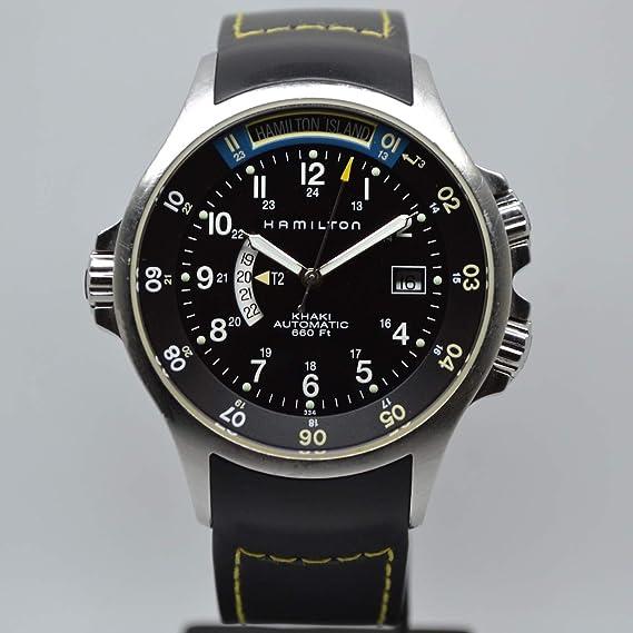 Hamilton Khaki Navy GMT H77645333 - Reloj automático para hombre