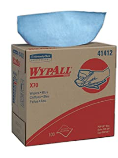 WypAll 41412 X70 Cloths, POP-UP Box, 9 1/10 x 16