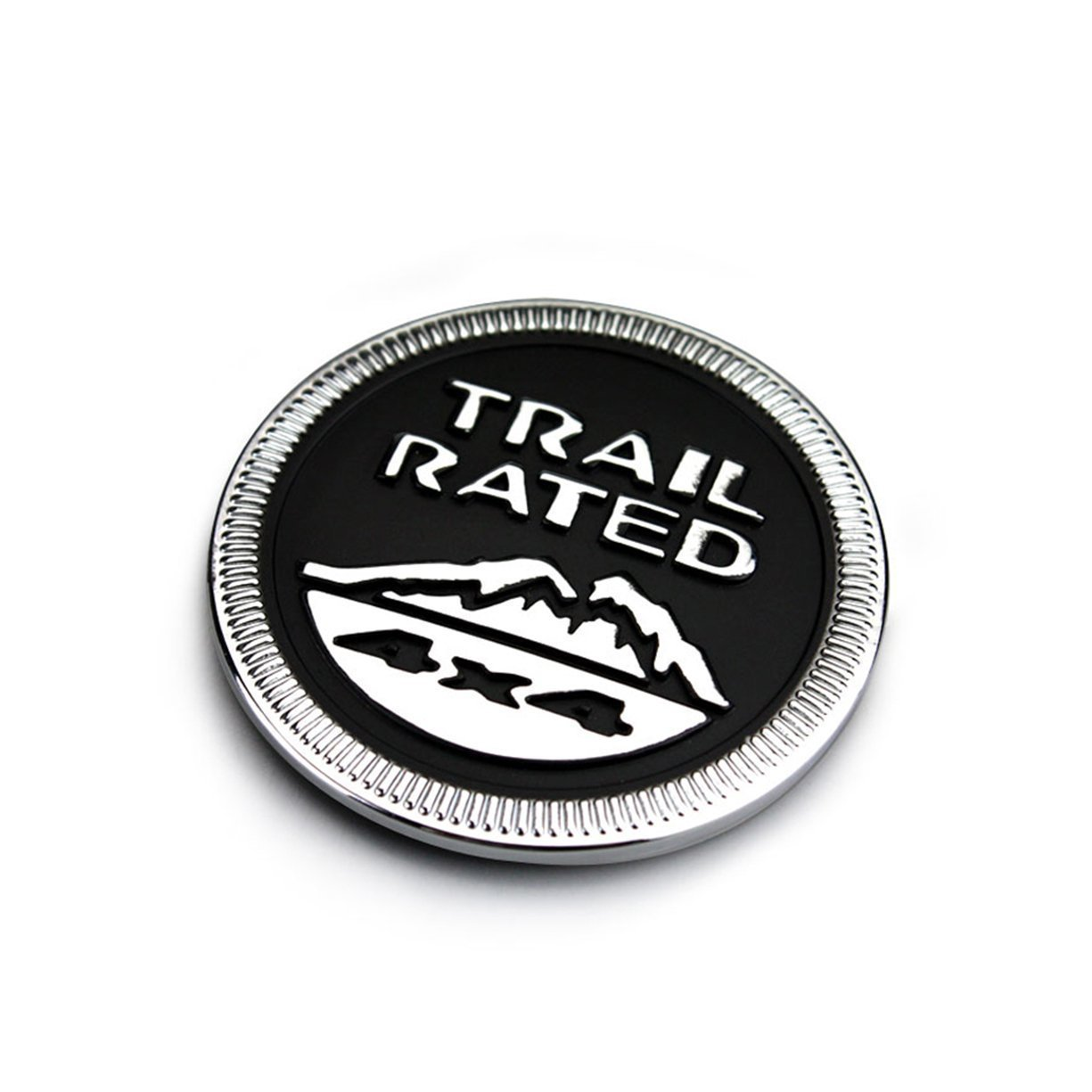 Suparee Metal Trail 4x4 runde Schwarze Emblem Schwarz
