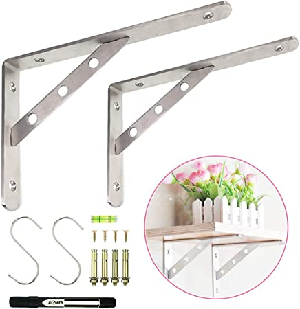 Metal Triangle Shelf Bracket Wall Mounted Support Holder Furniture Acces