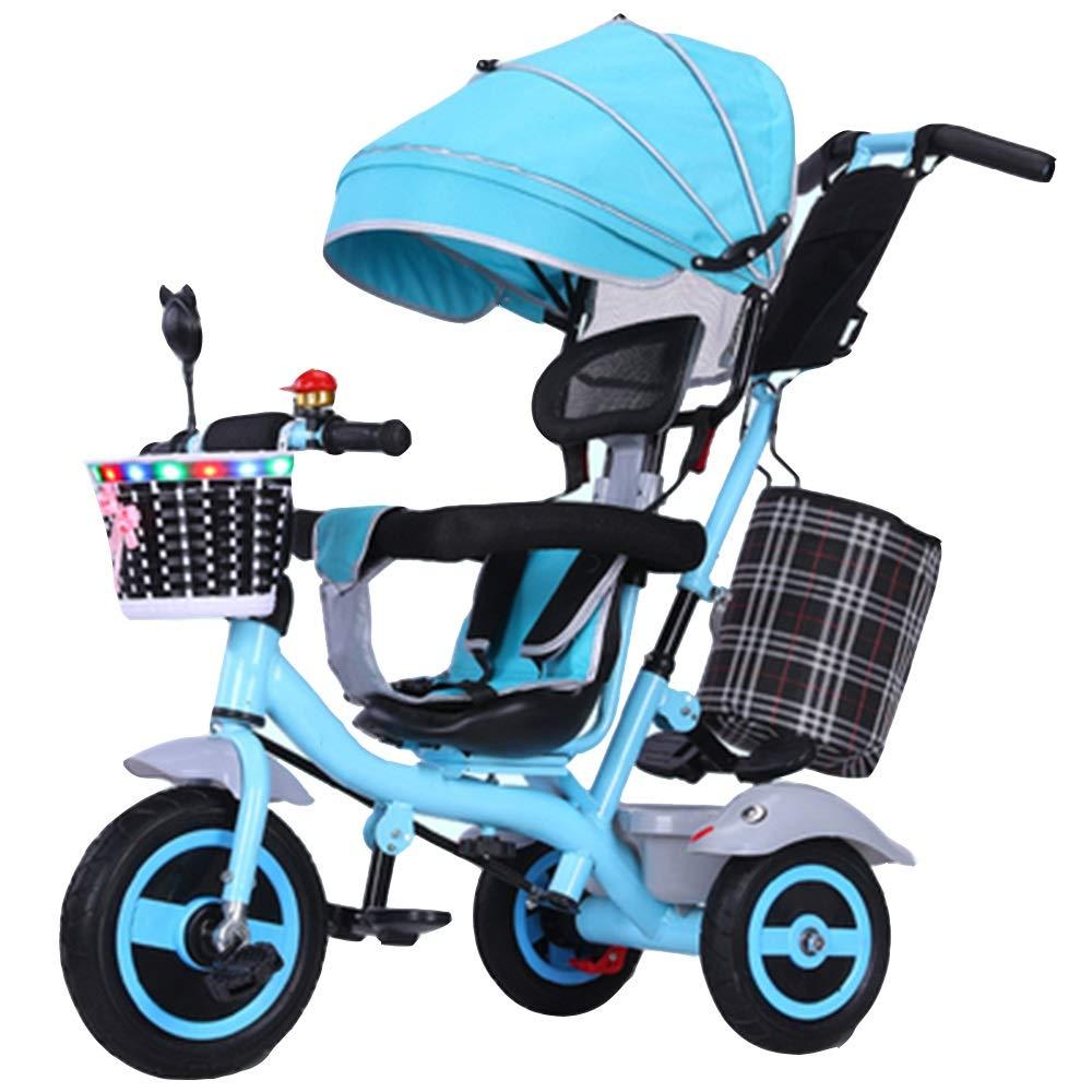 YUMEIGE YUMEIGE 子供用三輪車 子供三輪車プッシュロッドAdjustable1-6歳誕生日子供ギフト幼児ベビーカートライク負荷重量80キログラム 青 得ることができます B07QS9QSSR B07QS9QSSR 青, 淡路米田畑:a722e8b2 --- gamenavi.club