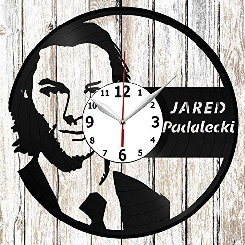 Jared Padalecki Vinel Record Wall Clock Home Art Decor Unique Design Handmade Original Gift Vinyl Clock Black Exclusive Clock Fan Art]()