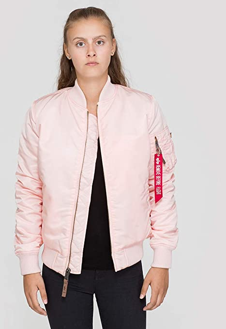 alpha industries damen jacke rosa l