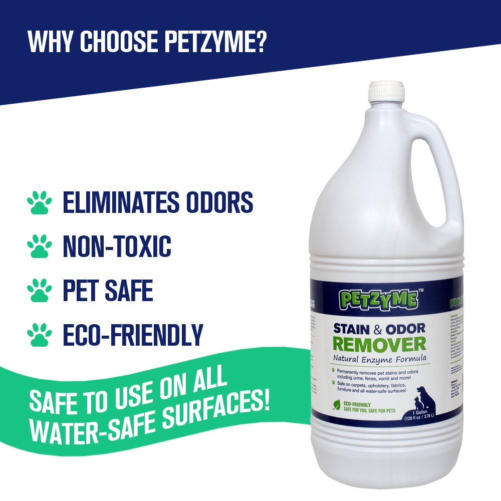 Petzyme Pet Stain Remover Odor Eliminator Enzyme Cleaner