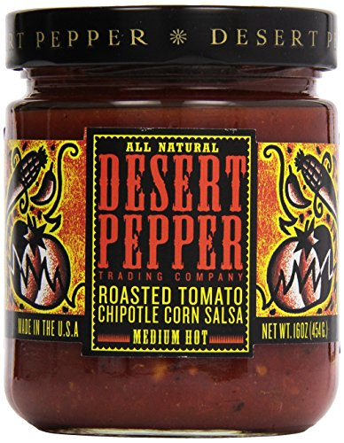 Salsa Roasted Desert Pepper (Desert Pepper, Roasted Tomato Chipotle Salsa, 16 oz)