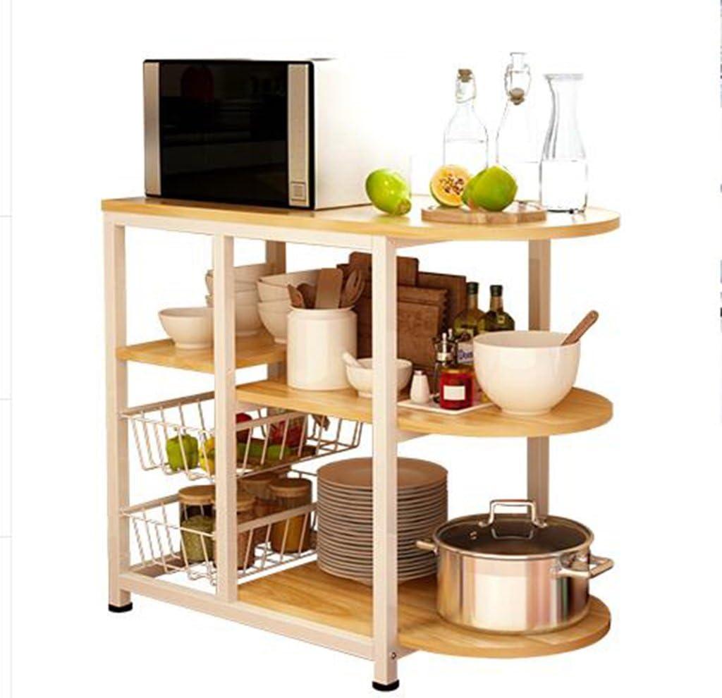 HORS Estante de cocina Horno microondas Estante Cocina Estante eléctrico Almacenamiento Estante Rack Rack Gabinete Aparato de cocina Estante multicapa Organizadores de cajones ( Color : #1 )