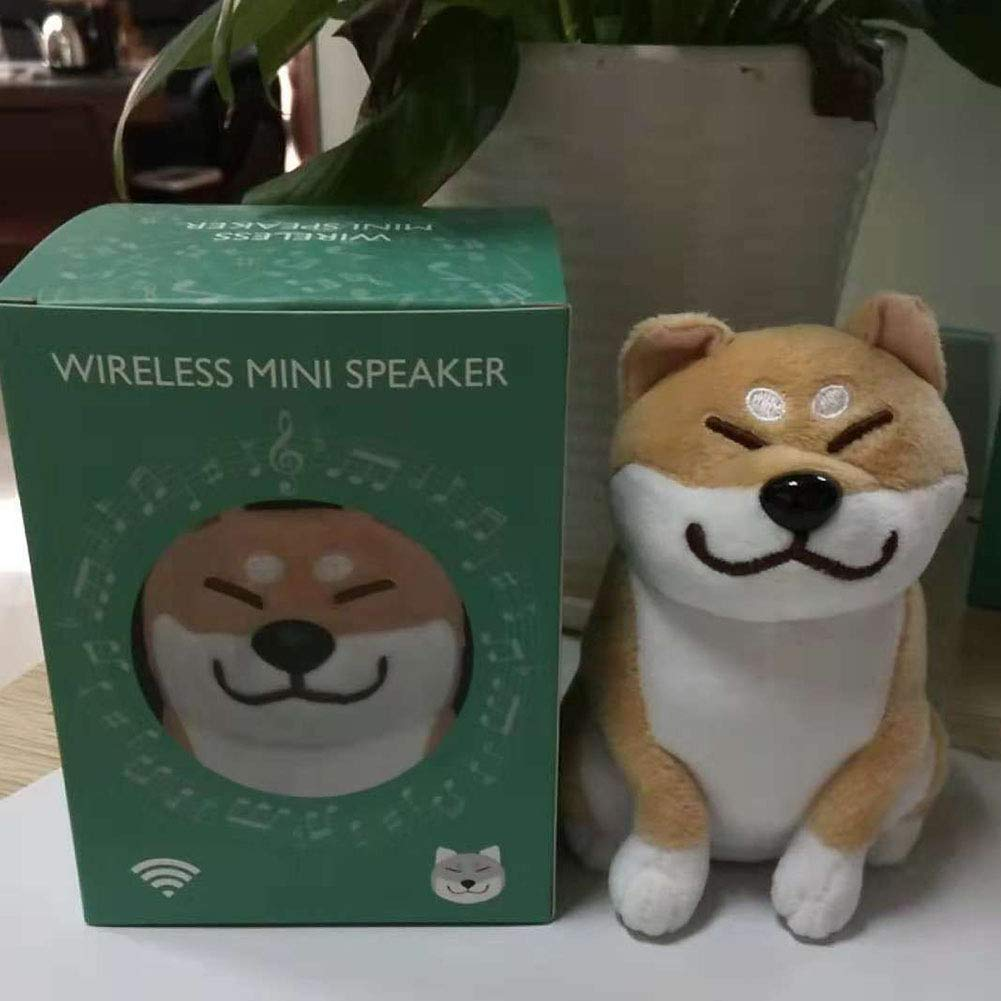RONSHIN Portable Bluetooth Speakers,Cute Cartoon Plush Dog Wireless Bluetooth Speaker Stereo Super Bass Subwoofer Home Decoration Gold by RONSHIN