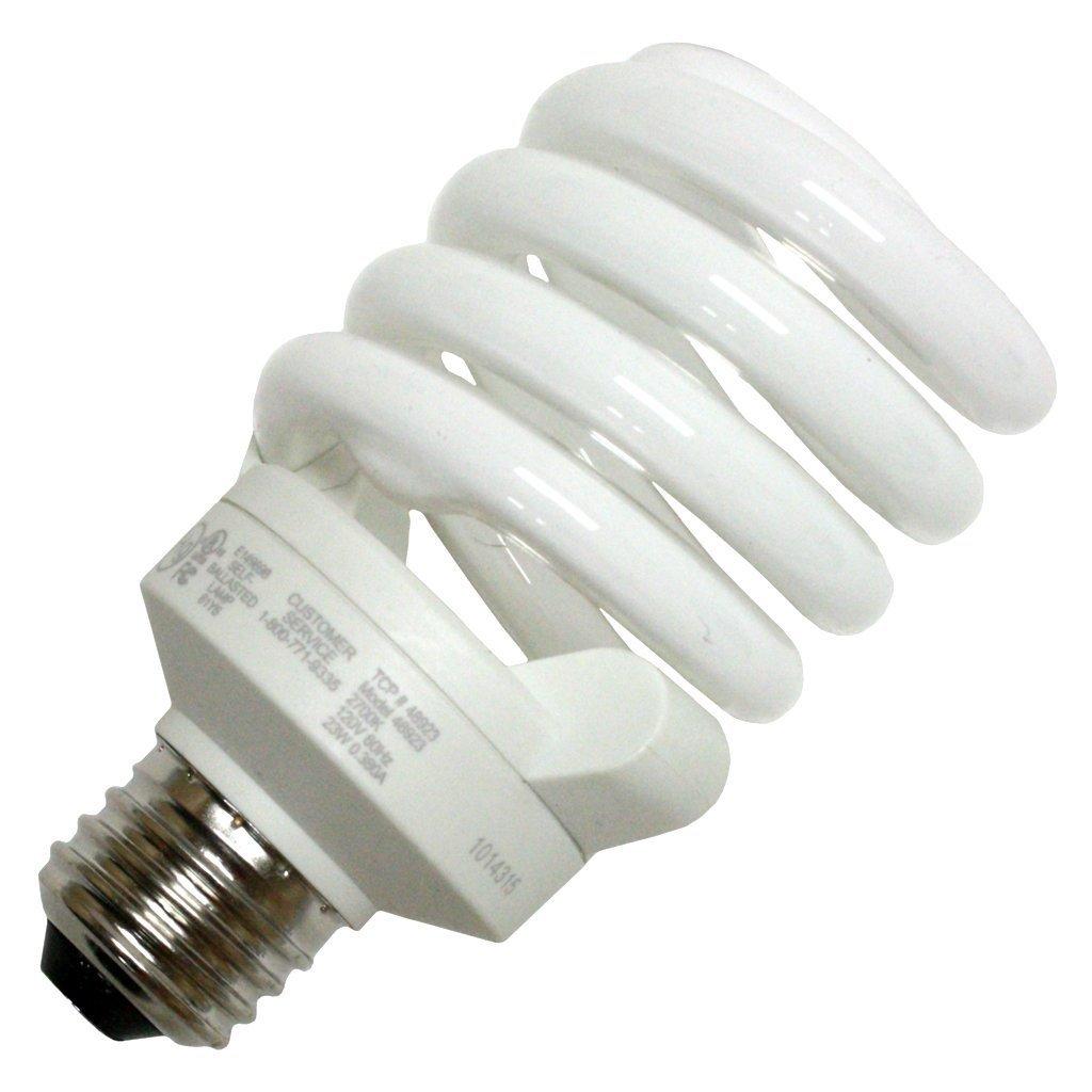 (12-Pack) TCP 48923 2700-Kelvin 23-watt Full Springlamp CFL Light Bulb