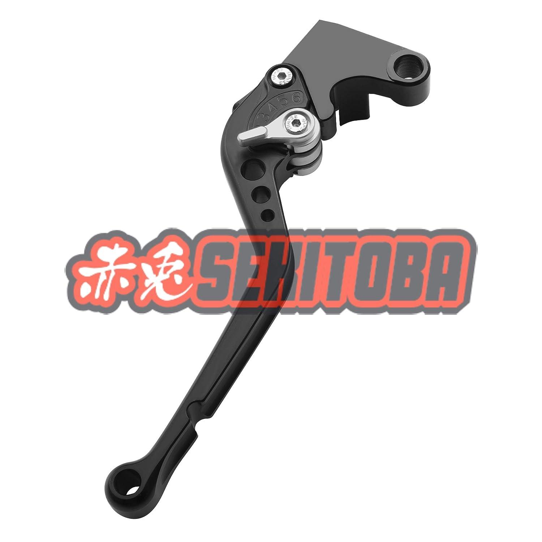 Sekitoba CNC Alluminio Regolabile Set Leve Freno e Frizione Nero Arancia per Ktm Duke 125 200 390 2012-2013