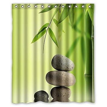 Dream extérieur antique Bambou trompe l\'oeil porte Rideau de douche ...