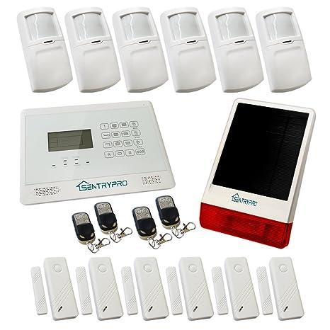 Sentry Pro pantalla táctil inalámbrico GSM alarma - blanco ...