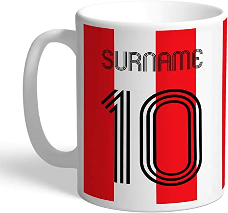 Southampton Personalised Retro Shirt Mug
